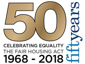 National Fair Housing Alliance logo FHAct50-Logo-w-Black-Background-2