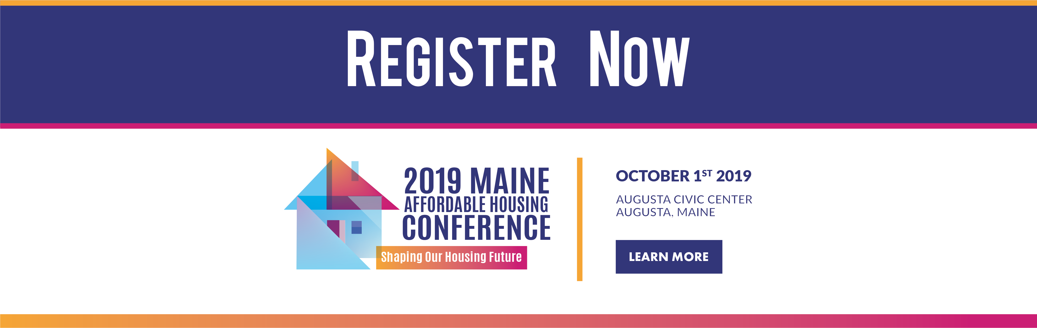 Register Now - 2019 Maine Affordable Housing Conference